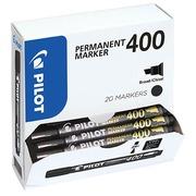 Pack de 15 marqueurs permanents PILOT 400 pointe biseautée 4,5 mm Noirs + 5 Offerts