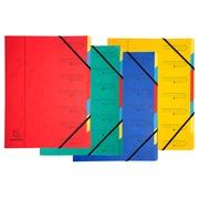 Sorteermap met vaste rug en elastosluiting - 7 indelingen - Geassorteerd (54070E)