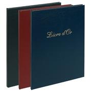 Gastenboek Balacron kaft met opschrift Livre d'Or - 100 pagina's - 27x22cm verticaal