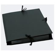 Portfolio black paper with ribbon - 32x45cm A3