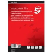 5 Star transparents pour imprimantes laser noir/bl
