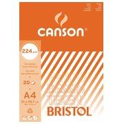 Canson bloc de dessin Bristol ft 21 x 29,7 cm (A4)