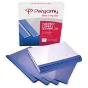 Pergamy couvertures thermiques ft A4, 3 mm, paquet de 100 pièces, bleu, grain cuir