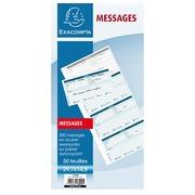 Carnet reliure spirale 200 messages téléphoniques Exacompta