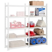 Archive rack Industri'Eco 2 extension element H 200 x W 100 x D 40 cm in galvanized steel plate