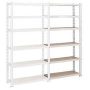 Archive rack Archiv' Eco 2 - extension element H 192.5 x W 100 x D 35 cm galvanized steel plate single access