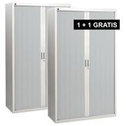 Pack Rolladenschränke Bruneau H 200 cm grau/aluminiumfarbig : 1 kaufen = 1 gratis in derselben Farbe