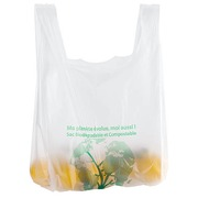 Compostable bag with straps H 54 x W 30 x D 7 cm - box of 1000
