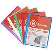 Translucent and personalizable document holders Bruneau polypropylene A4 40 sleeves - 80 sights assortment