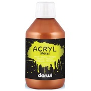 Darwi peinture acrylique Metal effect, flacon de 250 ml, bronze