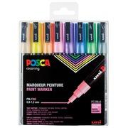 Posca marqueur de peinture PC-3M, set de 8 marqueurs en couleurs pastel assorties