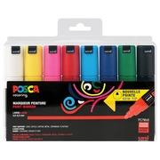 Posca marqueur de peinture PC-7M, set de 8 marqueurs en couleurs basiques assorties