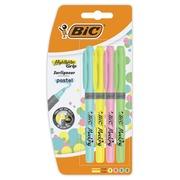 Bic markeerstift Highlighter Grip Pastel, blister van 5 stuks in geassorteerde kleuren