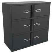Monoblock locker - cabinet with 6 compartments H 100 cm anthracite