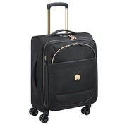 Trolley cabin luggage slim expendable 4 double wheels 55 cm Delsey black