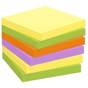 Repositionable notes Zig-Zag assortment of colors Spring Bruneau 75 x 75 mm - block of 100 sheets