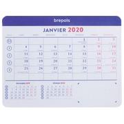 Mousepad + monthly calendar 2020 - 23 x 18 cm