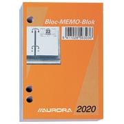 Bloc éphéméride Aurora 2020 date à droite