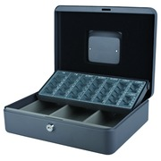 Coffret caisse Pavo avec trieur monnaie 300x240x90mm gris