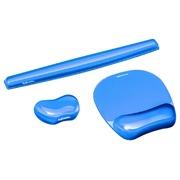 Repose-poignet pour souris Fellowes gel transparent bleu
