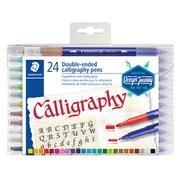 Feutre calligraphe Staedtler Duo pointes 2.0 et 3.5mm assorti