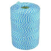 Ficelle coton 45m 50g bleu/blanc