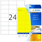 Etiquette Herma 4466 70x37mm jaune 480 pièces