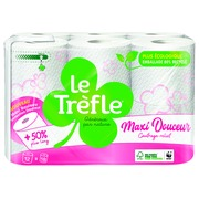 Toilet paper double thickness Le Trèfle Maxi sheets - box with 24 rolls of 210 sheets
