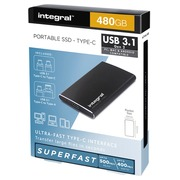 Disque dur Integral SSD Externe USB-C 3.1 480Go