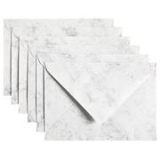 Enveloppe Papicolor C6 114x162mm gris marbré