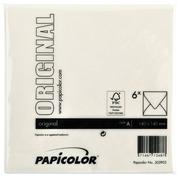 Enveloppe Papicolor 140x140mm blanc