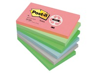 Post-it block, recycled, 76 x 127 mm, assorted pastel colours