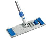 Support for mop for flat cleaning with flap system