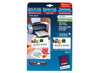 Pack of 100 business cards inkjet Avery Quick and Clean - 85 x 54 mm - 270 g