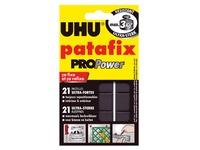 Sleeve of 21 repositionable pastilles adhesive paste Uhu Patafix Pro Power black