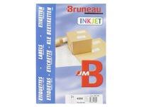 Etiquette adresse jet d'encre 70 x 42 mm Bruneau blanche - Boîte de 4200
