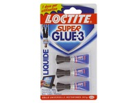Colle super glue Loctite - Blister de 3 tubes de 1 g