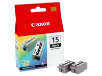 Pack 2 cartridges zwart Canon BCI15B