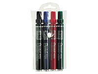 Sleeve of 4 permanent markers Pentel N50 cone point 4,3 mm assorted colours