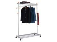 Wave coat rack with 6 hangers