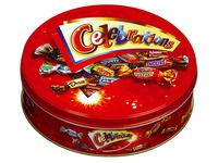Metalen doos Celebrations 450 g