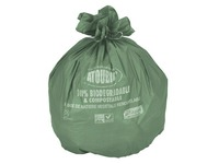 Atoubio, cardboard, 250 biodegradable garbage bags 60L, with tape