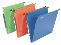 Suspension files for cabinets 33 cm, polypropylene, bottom 15 mm, assorted colours