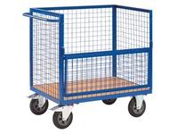 Behälterförmiger Wagen mit Gitterstruktur und halber Klapptür