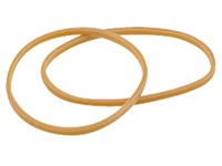 Box of 100 g rubber bands 200 x 10 mm