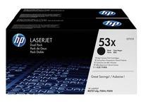 Pack 2 toners zwart HP Q7553XD