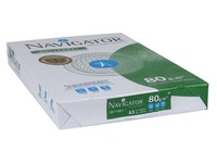Ream of 500 sheets Navigator white paper A3 80 g