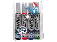 Sleeve of 4 Pentel Maxiflo whiteboard markers large tip