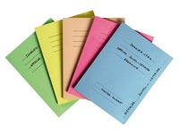 Pack of 50 pre-printed folders