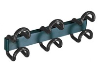 Saga wall hanger, 3 coloured double hooks, length 38 cm
